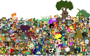 Wallpaper fiction, Futurama, cartoon
