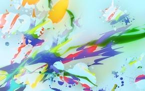 Picture color, paint, blue background