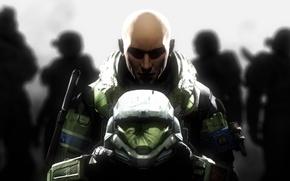 Picture soldiers, helmet, armor, halo, fan art, June, Jun-A266, SPARTAN 3