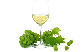 Picture wine, glass, grapes
