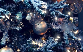 Picture snow, holiday, toys, tree, garland