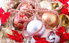 Picture balls, photo, Christmas, New year, tinsel, bells, holidays