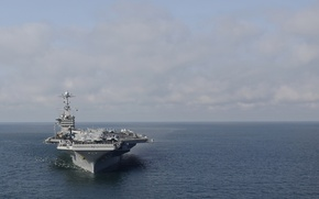 "Wallpaper sea, the carrier, Harry S. Truman, the sky, USS, (CVN-75), type ""Nimitz"""