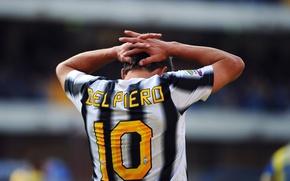 Picture striker, Italian, Alessandro Del Piero, 10, Mr. Juventus