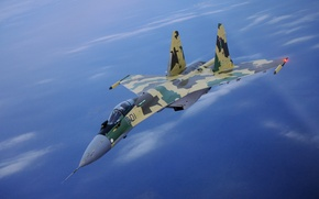 Wallpaper blue sky, fighter, height, SU-35