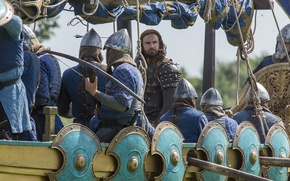 Picture ship, soldiers, Vikings, The Vikings, Clive Standen, Rollo