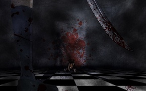 Wallpaper the darkness, blood, sword