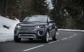 Picture road, car, machine, Land Rover, Range Rover, road, the front, Evoque, Autobiography