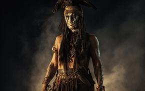Picture bird, eagle, Johnny Depp, man, actor, Johnny Depp, Indian, The Lone Ranger, The lone Ranger, …