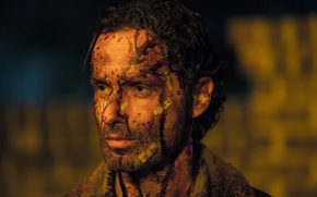 Picture bloody, the walking dead, rick grimes