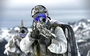 Picture weapons, soldiers, United States Navy SEALs