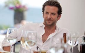 Picture table, glasses, actor, male, Bradley Cooper, Bradley Cooper