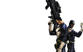 Picture figure, map, Marvel, Comics, Marvel, The Punisher, Bullseye, Tagged, The Punisher, very big gun