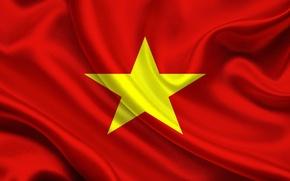 Wallpaper Flag, Vietnam, Democratic, Republic