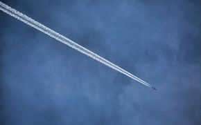 Picture the sky, aviation, the plane
