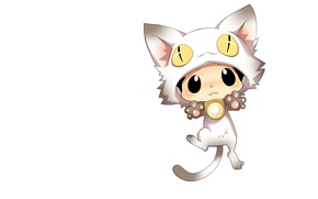 Picture minimalism, anime, art, neko, Cat, Reborn, children's, Reborn, Katekyō Hitman Reborn, Katekyo Hitman