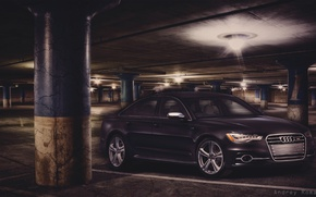 Picture car, machine, audi, Parking, the car in the Parking lot