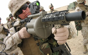 Wallpaper pistol, soldier, military, man, sand, M4A1, South Africa, M16, rifle, knife, vehicle, sunglasses, pearls, uniform, ...