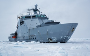 Picture ice, Norway, icebreaker, Norway, KV Svalbard, patrol vessel, Norwegian Coast Guard Svalbard, NoCGV Svalbard