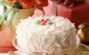 Picture holiday, tenderness, food, cake, New year, cake, dessert, food, sweet, sweet, dessert