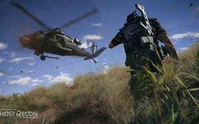 Picture weapons, helicopter, ghost recon wildlands, tom clansys