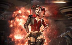 Picture Batman, Harley Quinn, Injustice