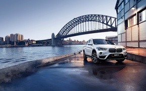 Picture bridge, river, shore, BMW, BMW, promenade, crossover, F48
