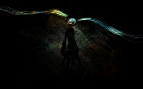 Picture girl, weapons, mask, vocaloid, Hatsune Miku, Vocaloid