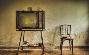 Picture background, TV, chair