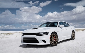 Picture white, srt, Dodge, dodge, charger