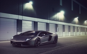 Picture Lamborghini, Front, LP700-4, Aventador, Supercar, Ligth, Nigth, Bumper