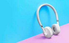 Picture white, headphones, hi-tech, Moto Pulse