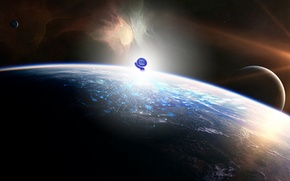 Picture light, planet, atmosphere, Sci Fi