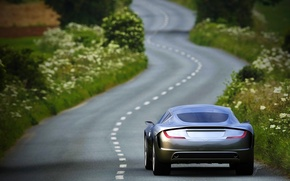 Picture Aston Martin, Auto, Road, The concept, Gauntlet, Aston Martin, Serey