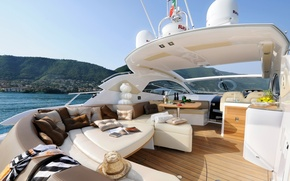 Picture design, style, interior, yacht, deck, Suite, cockpit, luxury motor yacht