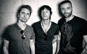 Picture Dominic Howard, Muse, British rock band, Chris Wolstenholm, Matthew Bellamy