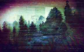 Picture forest, Sad, glitch, glitch