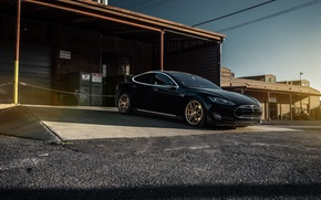 Picture Car, Black, California, Forged, Tesla, Model S, P85