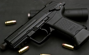 Picture Germany, Heckler & Koch, .45 ACP, automatic gun under American patron 11, 43×23mm, HK45C