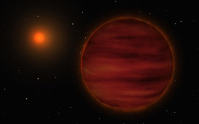 Picture red dwarf, brown dwarf, double star