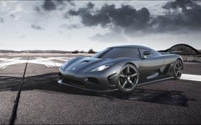Wallpaper the sky, Koenigsegg, supercar, carbon, the front, hypercar, agera R, Koenigsegg, Agera R