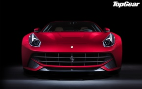 Picture red, Ferrari, Top Gear, Ferrari, supercar, twilight, the front, the best TV show, top gear, …