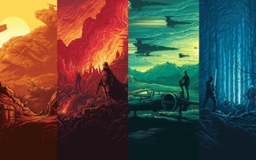 Picture Wars, Star, art, The, movie, Force, Awakens