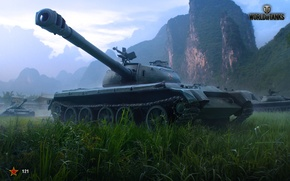 Wallpaper The sky, WoT, Mountains, Tanks, 121, World Of Tanks, Wargaming Net, Clouds, China, World of ...