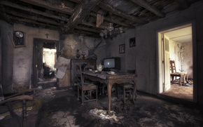 Picture room, interior, TV