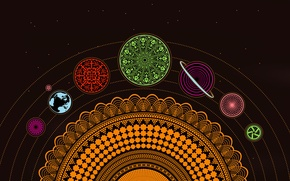 Picture color, Wallpaper, figure, solar system, zune originals