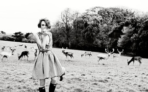 Picture field, Keira Knightley, deer, Vogue