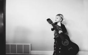Picture music, guitar, girl