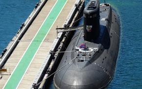 "Picture Submarine, Navy, diesel, Sevastopol, The Black Sea Fleet, ""Novorossiysk"", the project 636.3"
