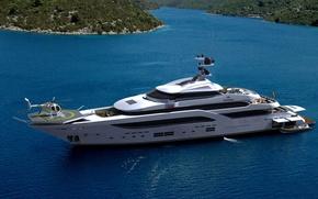 Picture luxury, yacht, motor, steel mega-yacht